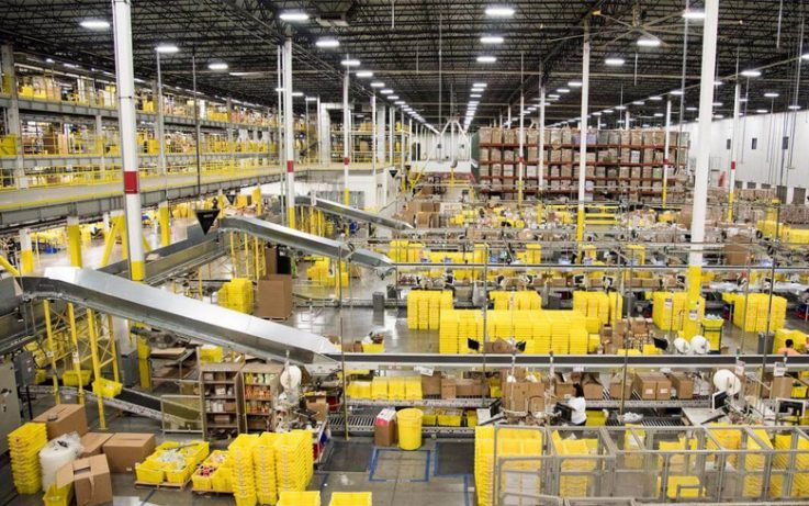 Amazon Self-Driving Forklifts