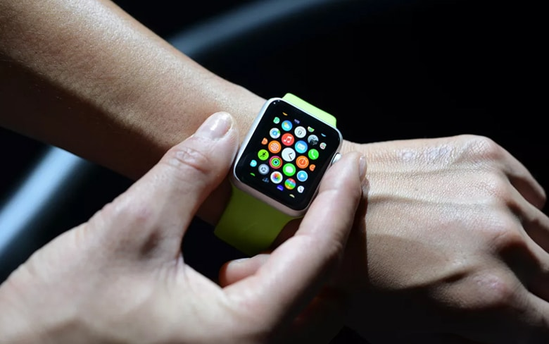 Apple Rollable Display on Man Wrist