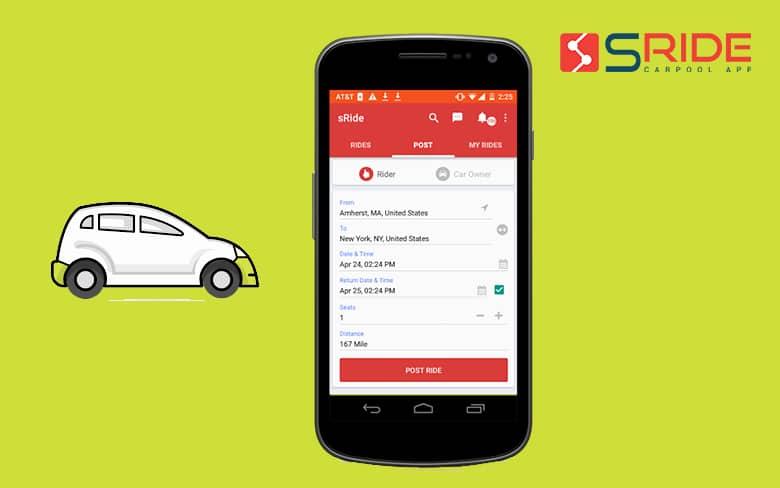 Carpooling Startup sRide App
