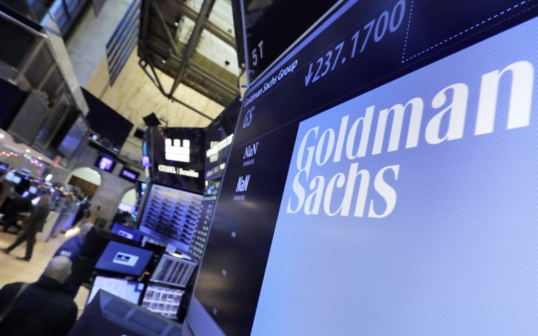 Goldman Sachs Groups Data Showing On the Screen