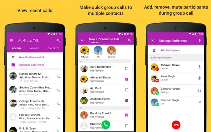 Jio Group Talk App Feature Showing In App