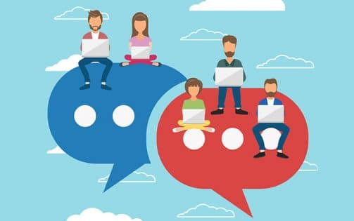 Live Chat with Group of People