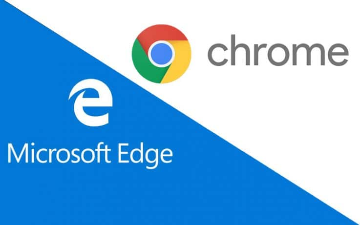 Microsoft Edge and Google Chrome