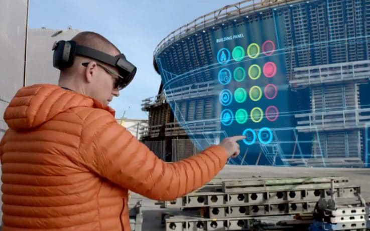 Man Are Working With Mixed Reality App