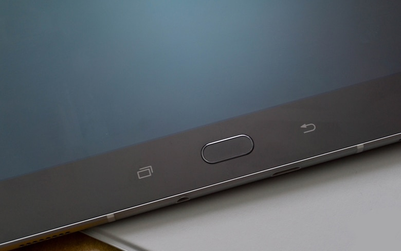 Samsung Tablet Showing Home Button