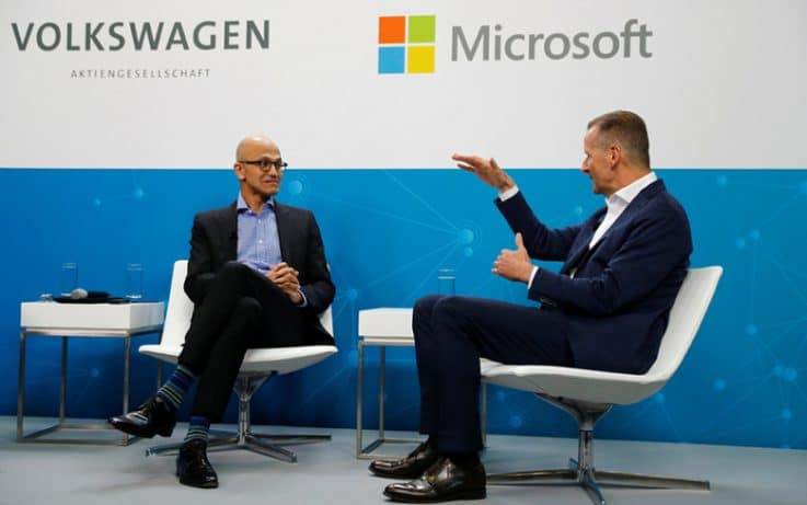 Volkswagen Collaborates with Microsoft