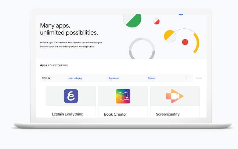 Google Chromebook App Hub