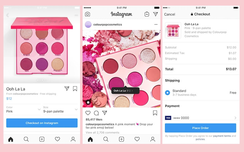 Instagram Checkout App Design