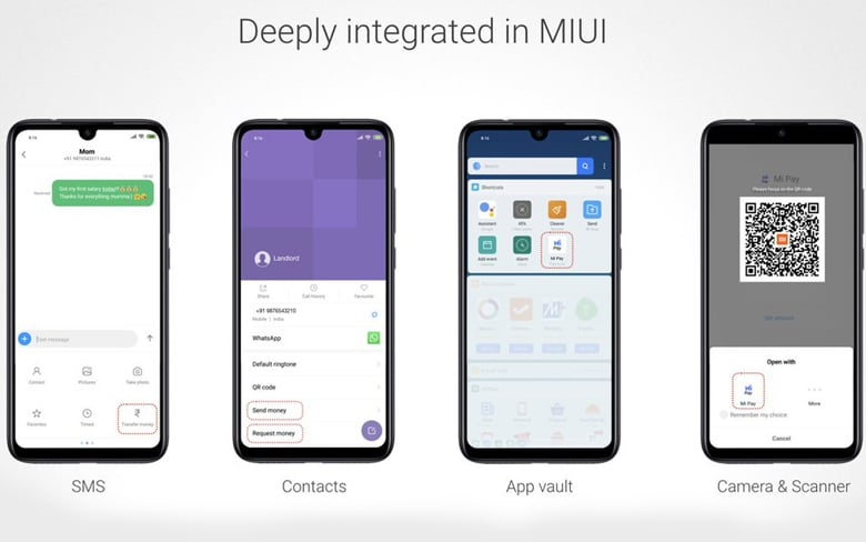 Mi Pay India Integrated in MIUI
