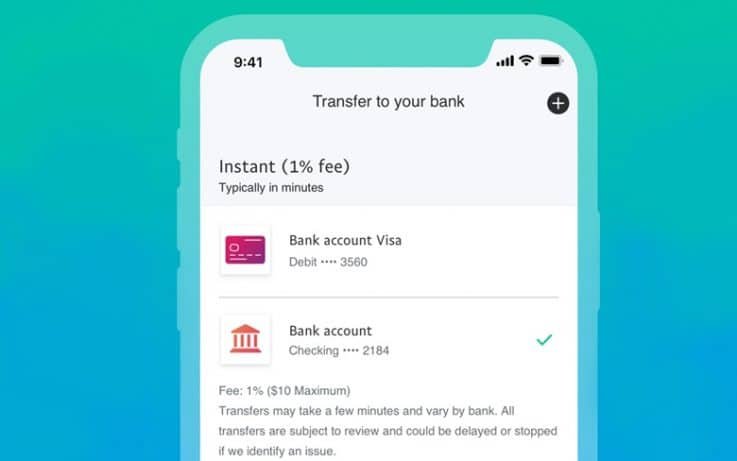 PayPal Instant Transfer Feature
