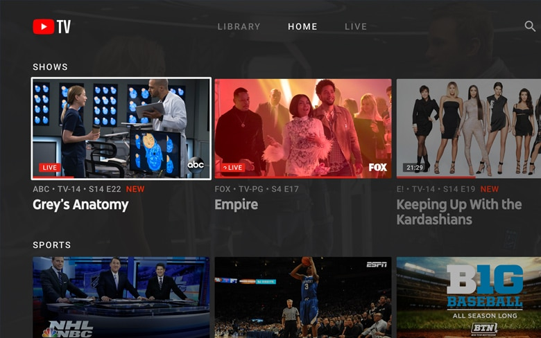 YouTube TV Cover Television