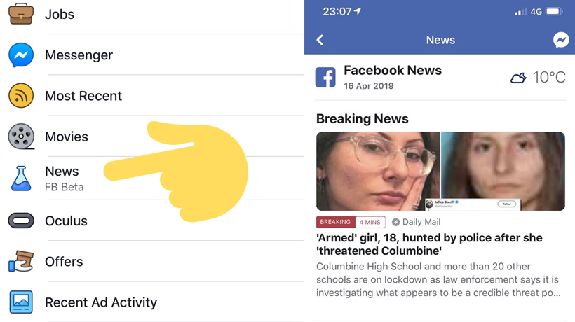 Facebook slowly rolling out a dedicated News Tab on its platform