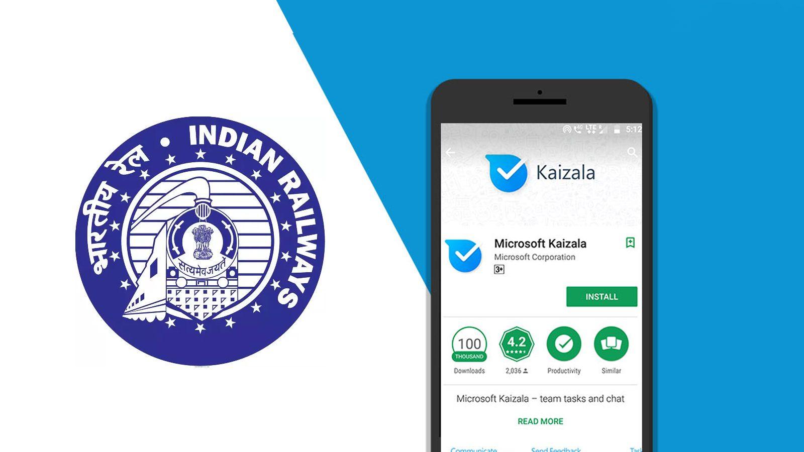 Indian Railways Pair with Microsoft Kaizala