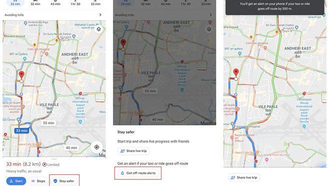 Google Map Alert