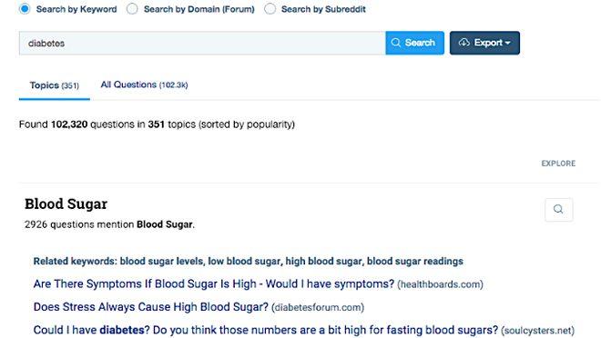 Google Search Diabetes