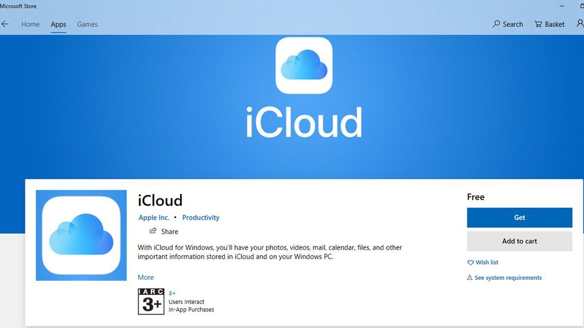 iCloud App Microsoft