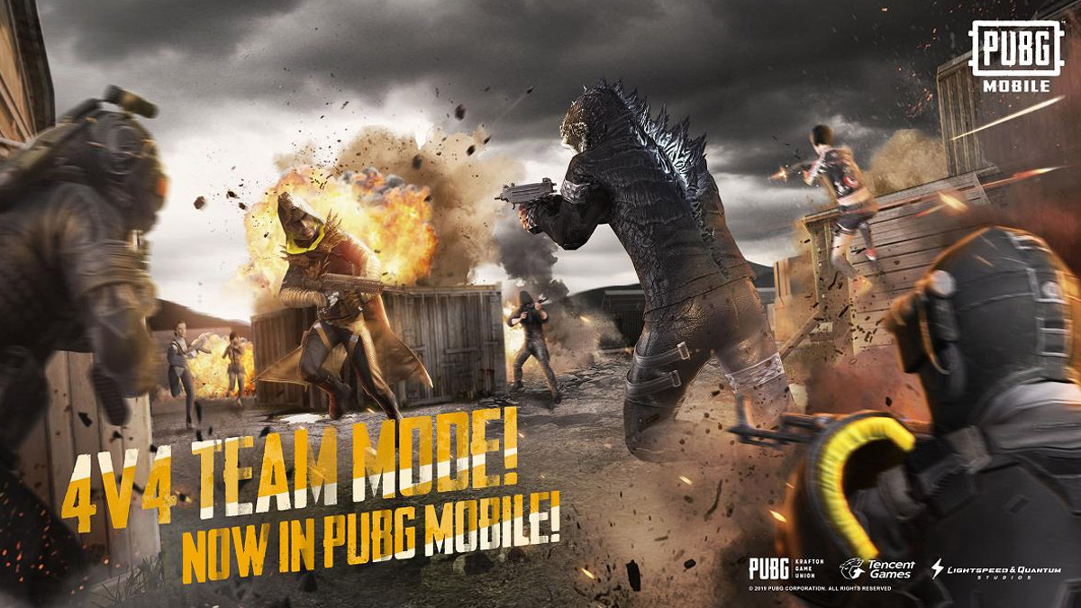 PUBG Team 4v4 Deathmatch Mode