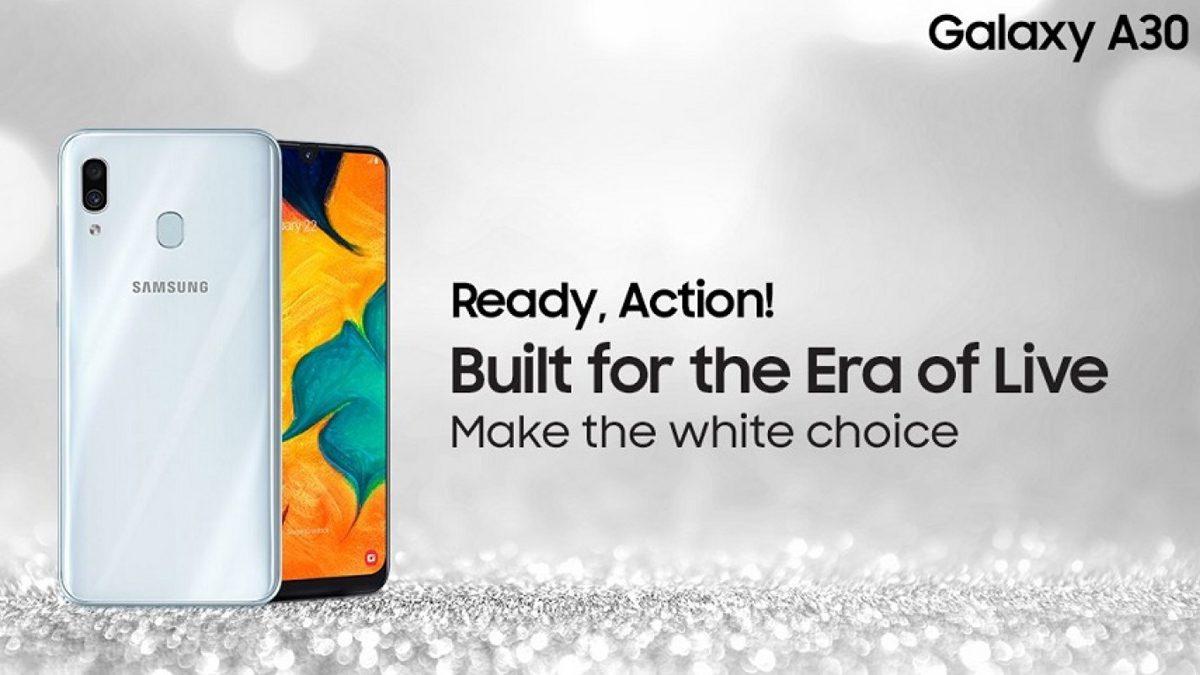 Samsung Galaxy A30 White color