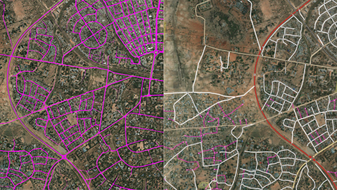 Conflation of the Vectorized Roads Data