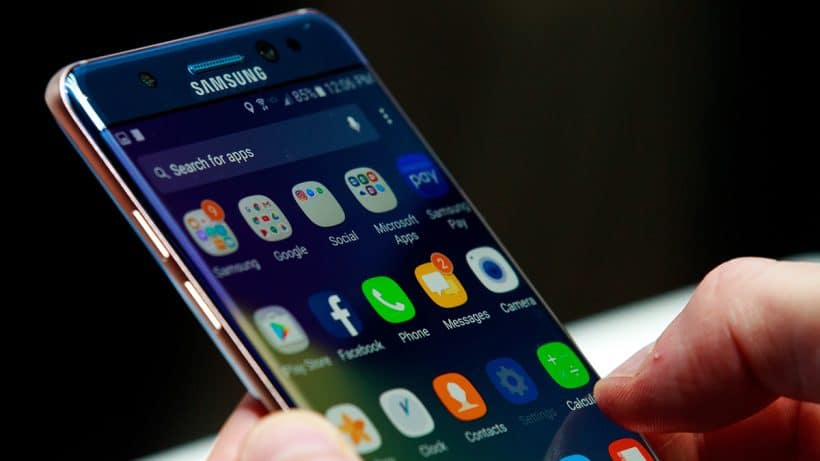 Samsung Email App on a Smartphone