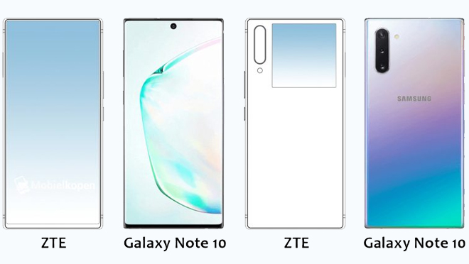 ZTE And Galaxy Note 10 Design
