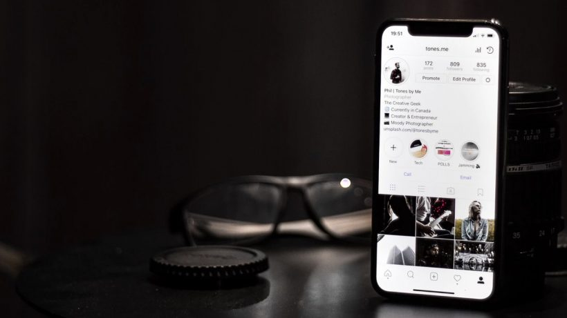 Instagram Account on a Smartphone