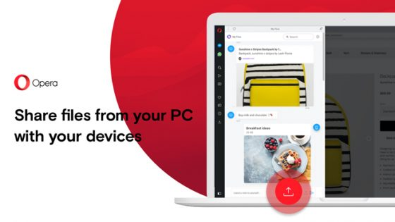 Opera Touch File Sharing