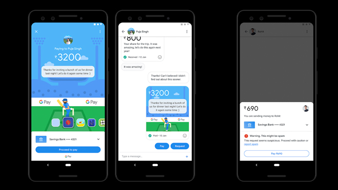 Google Pay Conversational UI