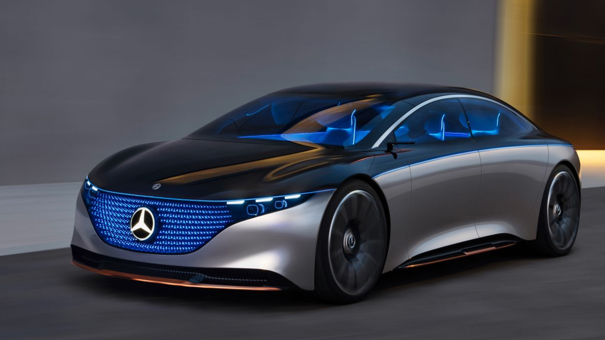 Mercedes Benz Vision EQS Concept Car