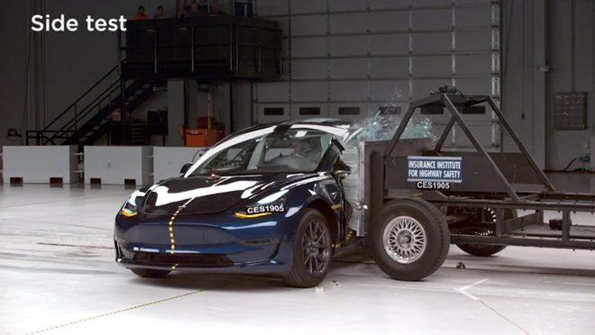 Tesla Model 3 Side Test