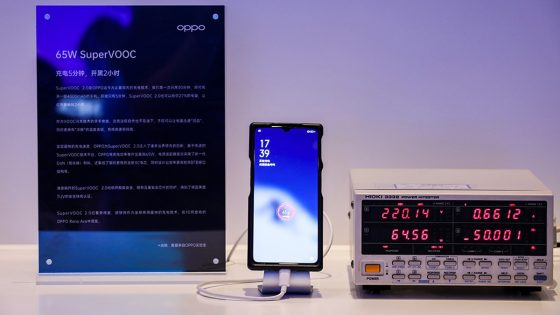 Oppo SuperVOOC Fast Chrage Tech