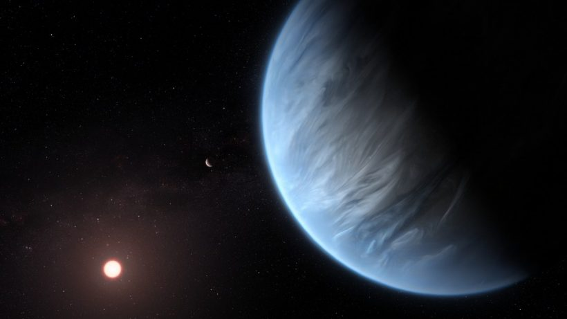Super-Earth K2-18b Planet Water