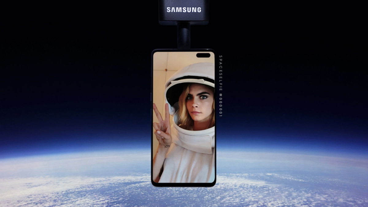 First Selfie In Space