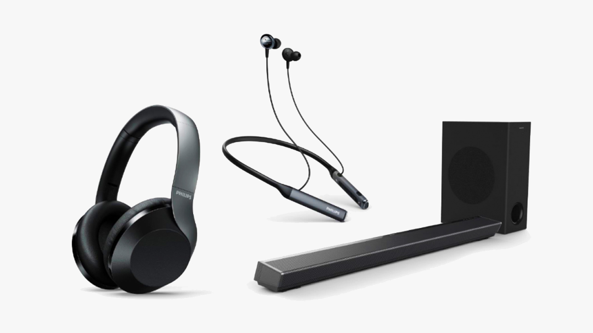 Philips Headphones And Soundbar