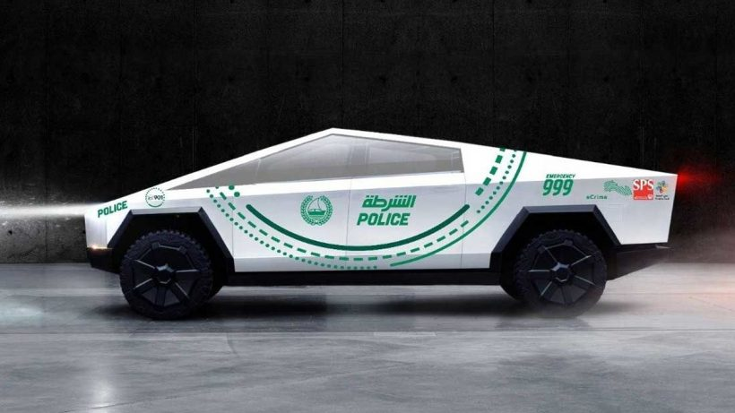 Cybertruck Using Dubai Police