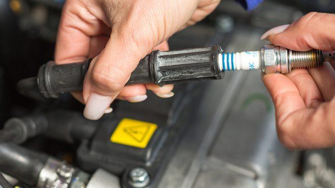 Changing Car Spark Plug