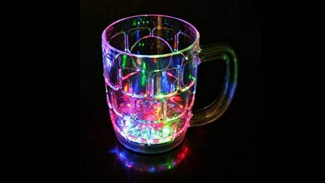 LED color changing mug