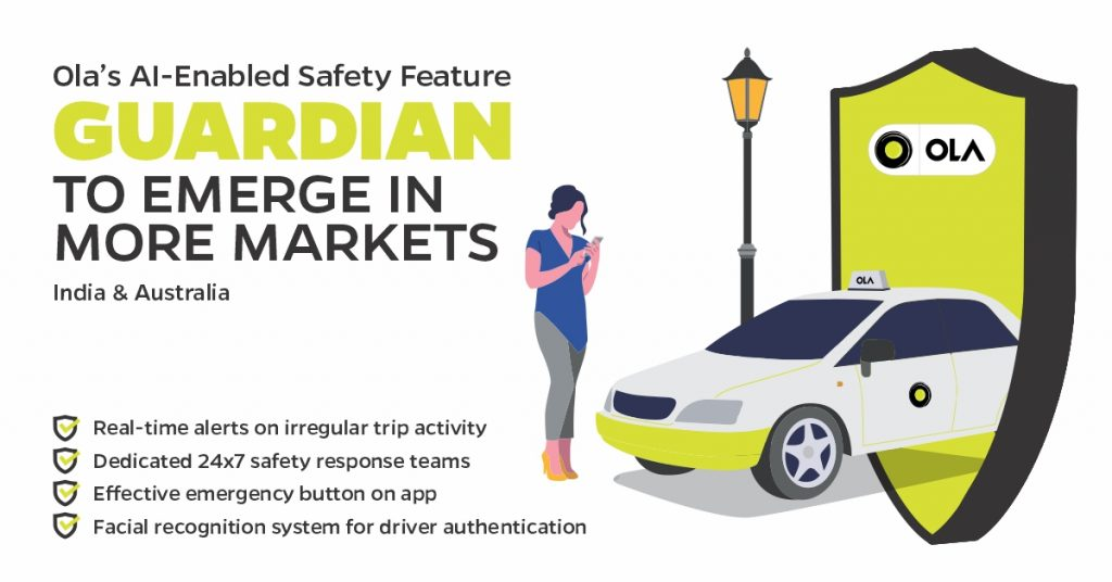 Ola Guardian Safety Feature