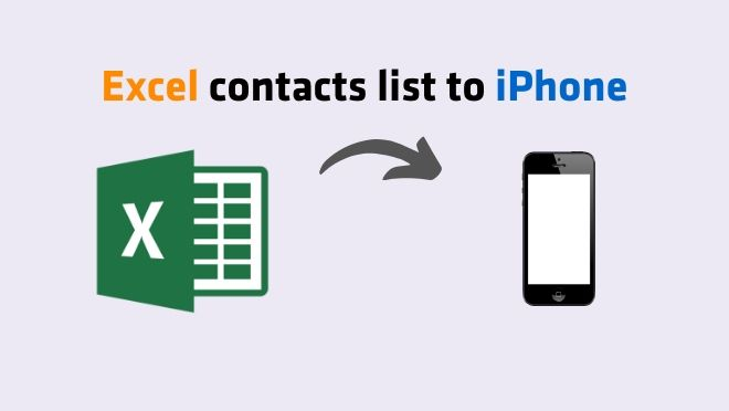 Import Excel contacts list to iPhone device