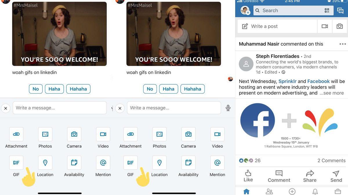 LinkedIn GIF Search