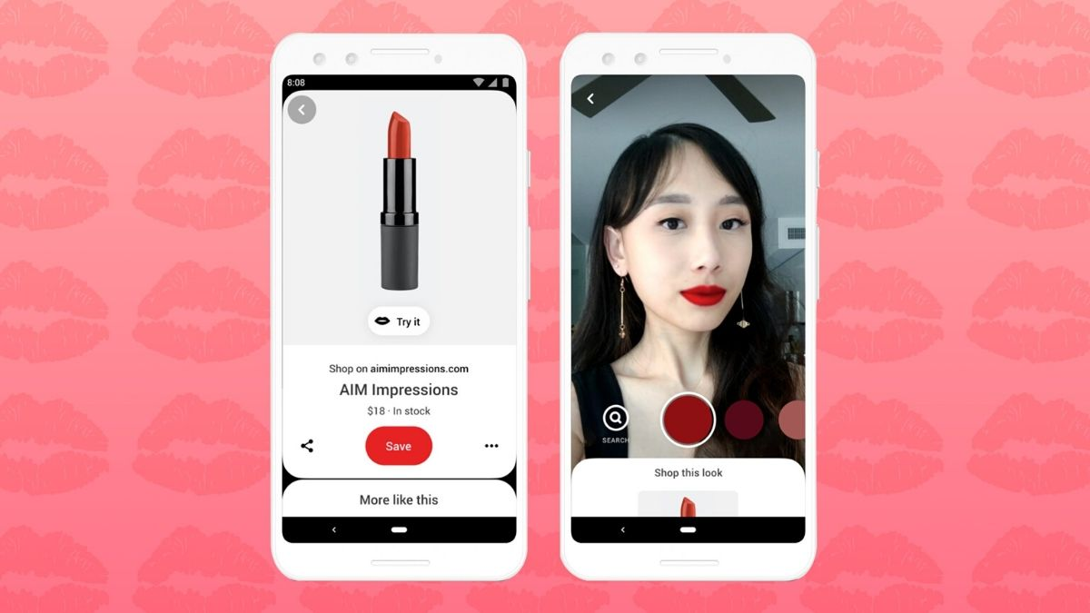 Pinterest AR Makeup App