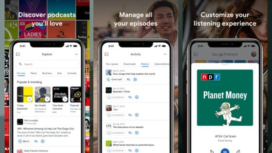 Goggle podcasts on iOS