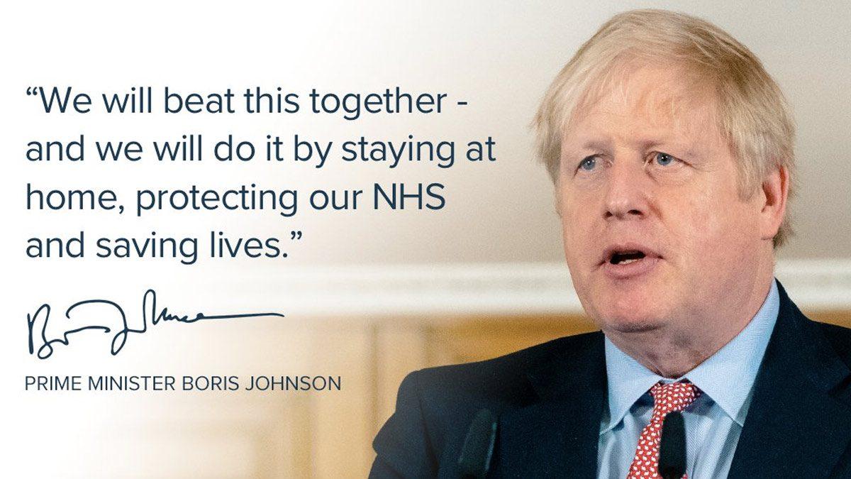 Boris Johnson Twitter Message