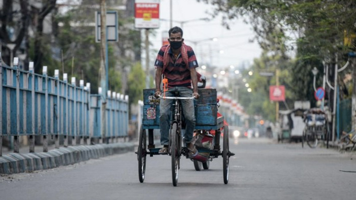 Man Pulling Rickshaw