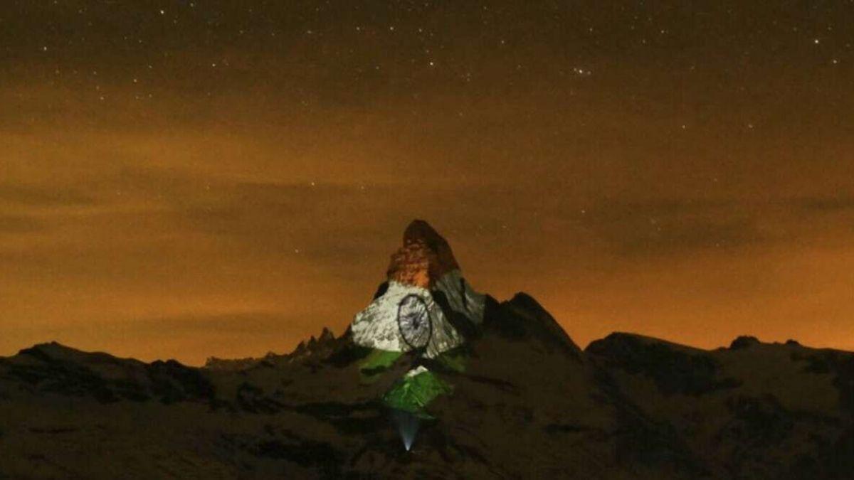 Matterhorn Mountain Inidan Flag