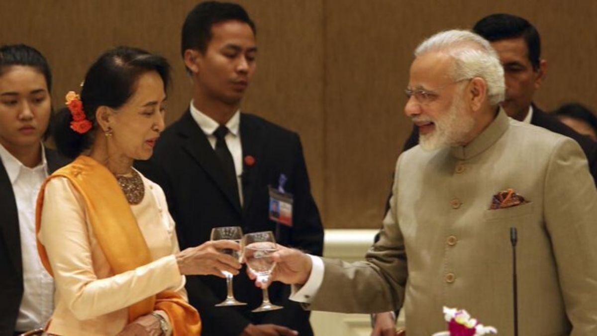PM Modi And Aung San Suu Kyi