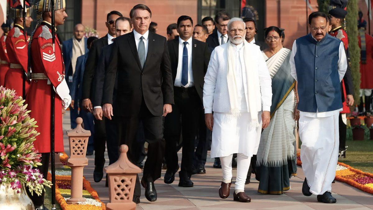 Naredra Modi With Brazil President