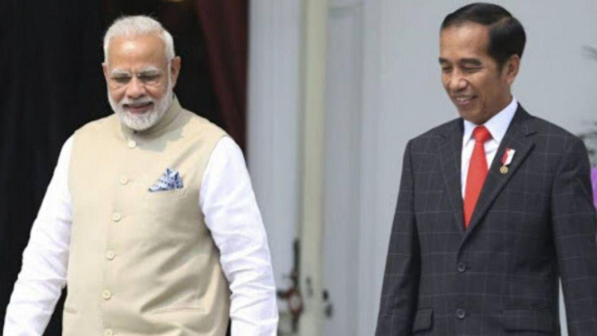 Narendra Modi With Joko Widodo