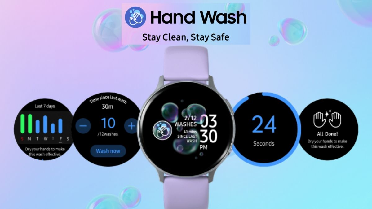 Samsung Hand Wash App for Galaxy Watch
