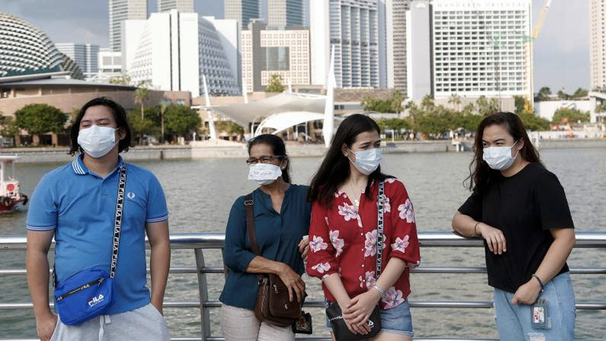 Tourist Wearing Face Mask